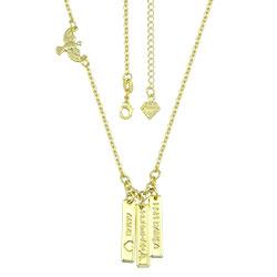 Gargantilha folheada a ouro com plaquinhas de AMOR, ESPERANÇA e GRATIDÃO - Clique para maiores detalhes