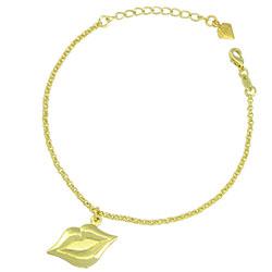 Pulseira Beijo folheada a ouro - Clique para maiores detalhes