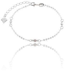 Pulseira Tiffany Inspired folheada a prata c/ zircônias - Clique para maiores detalhes