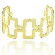 Bracelete de chapa folheado a ouro (semelhante ao utilizado pela personagem Livia - O Outro Lado do Paraíso) - Clique para maiores detalhes