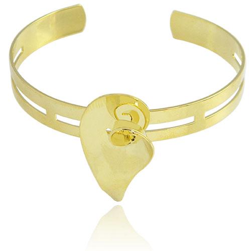 Bracelete Flor Copo de Leite folheado a ouro