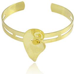 Bracelete Flor Copo de Leite folheado a ouro - Clique para maiores detalhes