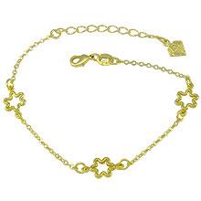 Pulseira folheada a ouro c/ flores vazadas - Clique para maiores detalhes