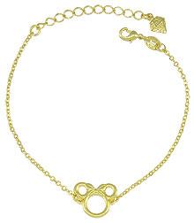 Pulseira Minnie folheada a ouro - Clique para maiores detalhes