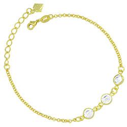 Pulseira Tiffany Inspired folheada a ouro - Clique para maiores detalhes