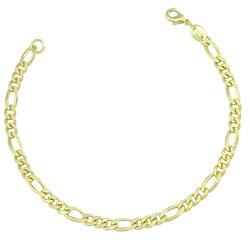 Pulseira feminina folheada a ouro com elos 3 X 1 - Clique para maiores detalhes