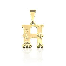 Pingente de letra folheado a ouro - Clique para maiores detalhes