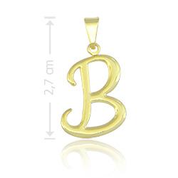 Pingente letra B folheado a ouro - Clique para maiores detalhes