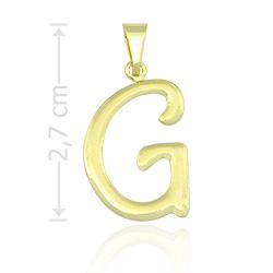 Pingente letra G folheado a ouro - Clique para maiores detalhes
