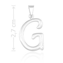 Pingente letra G folheado a prata - Clique para maiores detalhes