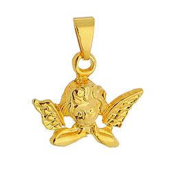 Pingente folheado a ouro em forma de anjo - Clique para maiores detalhes