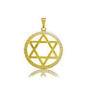 Pingente Estrela de David folheado a ouro - Clique para maiores detalhes