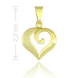 Pingente folheado a ouro em forma de coração - Clique para maiores detalhes