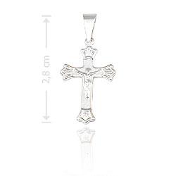 Crucifixo folheado a prata c/ detalhes em alto relevo - Clique para maiores detalhes