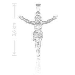 Pingente Jesus Cristo folheado a prata - Clique para maiores detalhes