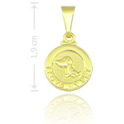 Pingente I LOVE MY PET folheado a ouro (cachorro) - Clique para maiores detalhes