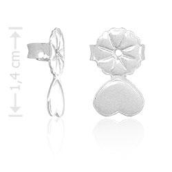 Tarracha folheada a prata especial para orelhas rasgadas - Clique para maiores detalhes