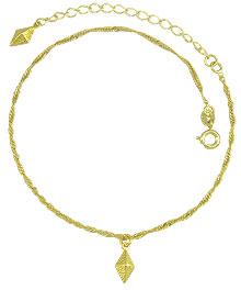 Tornozeleira folheada a ouro c/ pingentes em forma de balão - Clique para maiores detalhes