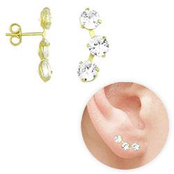 45a70d9d3 Brinco Ear Cuff folheado a ouro c  zircônias-Clique para maiores detalhes