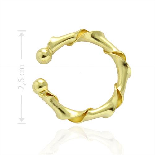 Piercing Fake de orelha folheado a ouro - Juliette BBB - tamanho grande