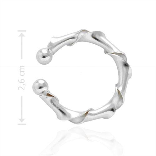 Piercing Fake de orelha folheado a prata - Juliette BBB - tamanho grande